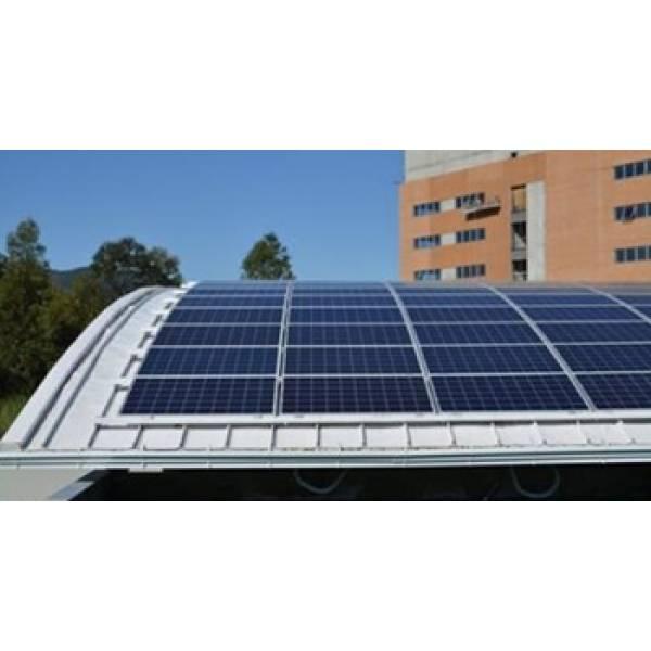 Instalação Energia Solar Telhado em Curva em Sapato Branco - Energia Solar Custo Instalação