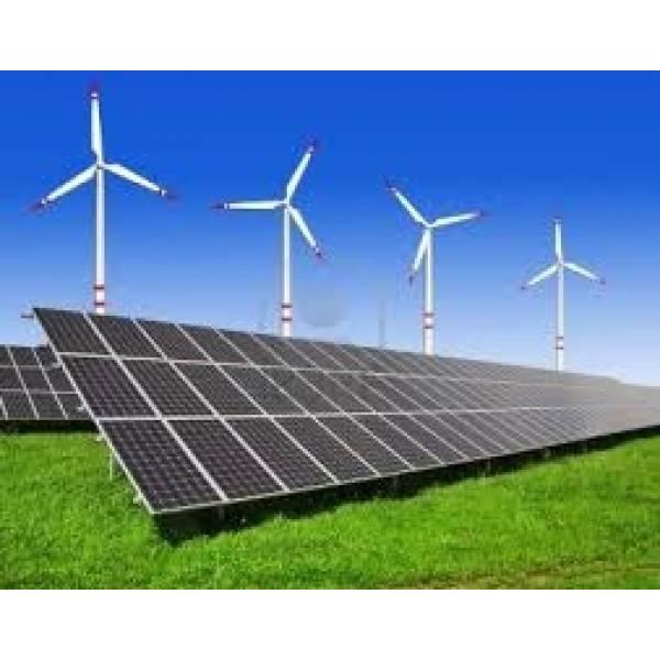Sistema de Energia Híbrido no Jardim Mirna - Instalação Painel Solar