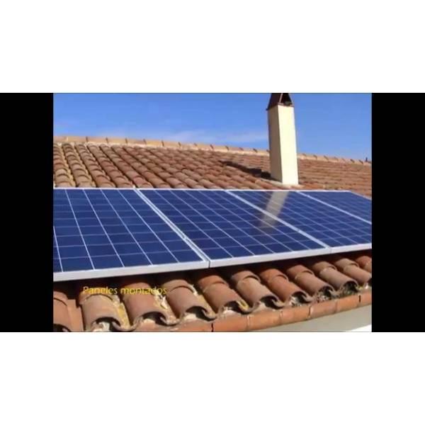 Sistema Solar Pequeno Escala no Jardim Elsa - Instalação Painel Solar