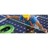 Energia solar aterramento na Água Azul