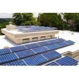 Energia solar base na Vila Luso Brasileira