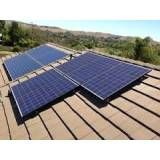 Energia solar pequeno sistema na Vila Santana
