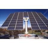 Energia solar tracking no Parque Continental
