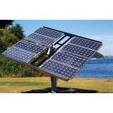 Instalação energia solar poste na Chácara do Encosto