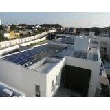 Instalação energia solar roof no Parque Continental